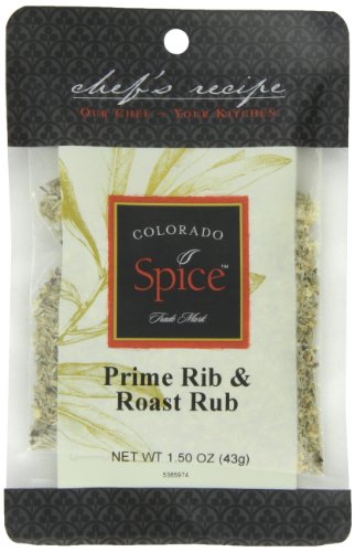 Colorado Spice Company, Beef, Poultry, Pork and Lamb Spice, Prime Rib & Roast Rub 1.5-Ounce Packet (Pack of 12) (Roast Rub)