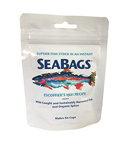 SeaBags Fish Stock, All Natural, Escoffier's 1921 Recipe- Makes 6 Cups