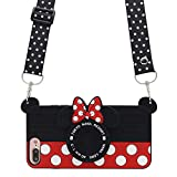 MC Fashion iPhone 7 Plus Case, Cute 3D Minnie Mouse Polka Dots Camera Case for Teens Girls Women, Shockproof and Protective Soft Silicone Phone Case for Apple iPhone 7 Plus/ 8 Plus (5.5-Inch)