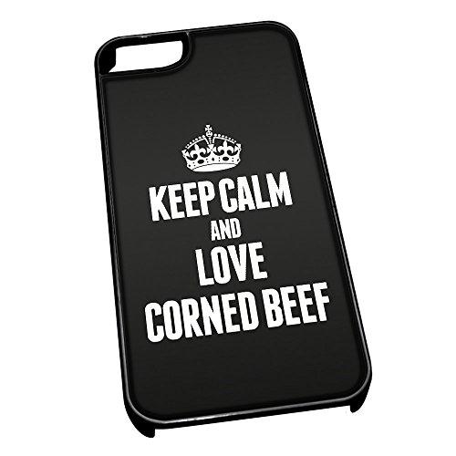 Nero cover per iPhone 5/5S 0993nero Keep Calm and Love Corned Beef