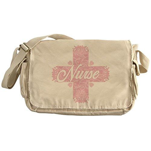 CafePress - Nurse Pink Lacy Cross - Unique Messenger Bag, Canvas Courier Bag by CafePress