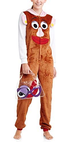 Disney Women's One Piece Pajama Set Union Suit Sleepwear (X-Large, Mrs Potato Head) -