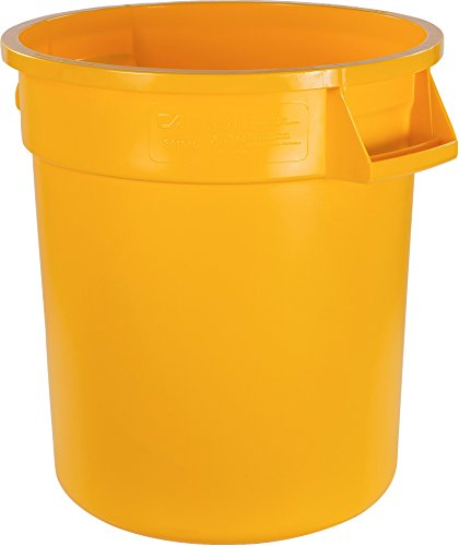 Carlisle 34101004 Bronco Round Waste Container Only, 10 Gallon, Yellow