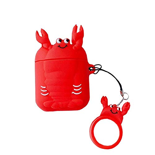 ICI-Rencontrer Super Delicious Crab Design Airpods Case Creative Tasty Seafood AirPods Accessories Wireless Charging Earphone Soft Silicone Anti-scratch Protector