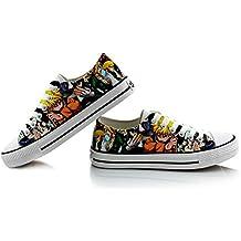 Naruto Anime Uzumaki Naruto Uchiha Sasuke Cosplay Shoes Canvas Shoes Sneakers Colourful 3 Choices