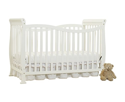 Big Oshi Jessica 7-in-1 Versatile Convertible Crib & Toddler Kids Bed - White by Big Oshi