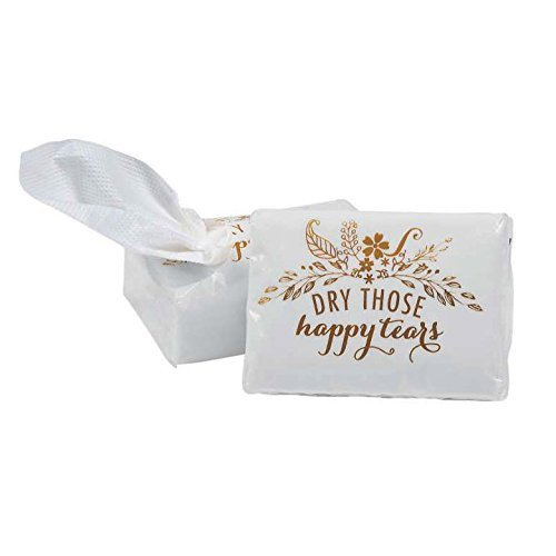 Wedding Happy Tears Tissue Favor Packs ~ Dry Those Happy Tears ~ 10 Pack ()