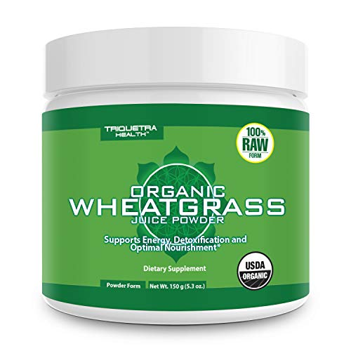 Organic Wheatgrass Juice Powder - Grown in Volcanic Soil of Utah - Raw & BioActive Form, Cold-Pressed Then CO2 Dried - Compliments Barley Grass Juice Powder - 5.3 oz