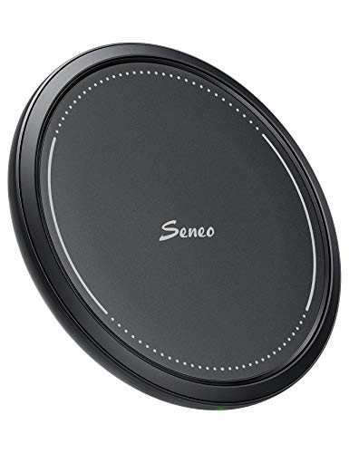 Wireless Charger, Seneo 146 7.5W QI Fast Wireless Charging Pad Compatible iPhone Xs/XR/XS Max/X/8/8 Plus, 10W Compatible Galaxy S10/S9/S9+/S8/S8+/Note 9/8, 5W for All Qi-Enabled Phones (No AC Adapter)