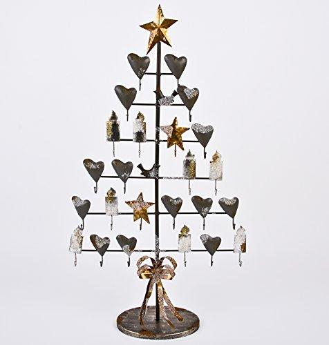 Weihnachtsbaum Vintage Nostalgie Deko Objekt Metall 85x48x15cm bunt Xmas