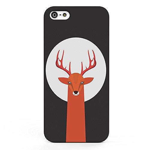 Koveru Back Cover Case for Apple iPhone 5S - Red Deer Moon