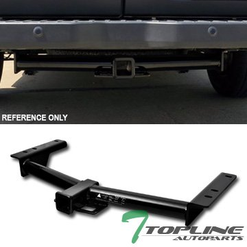 Topline Autopart Class 3 III Black 2 Rear Bumper Trailer Tow Hitch Towing Mount Receiver Tube For 15-18 Ford Transit 150/250 / 350/350 HD