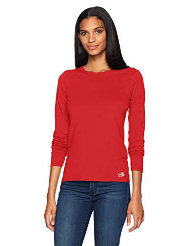 Russell Athletic Women's Essential Long Sleeve Tee, True Red, L