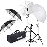 Photography Umbrella Lighting Kit, 600W 5500K Day Light Continuous Studio Lights Equipment for Portrait Video Studio Shooting by RALENO