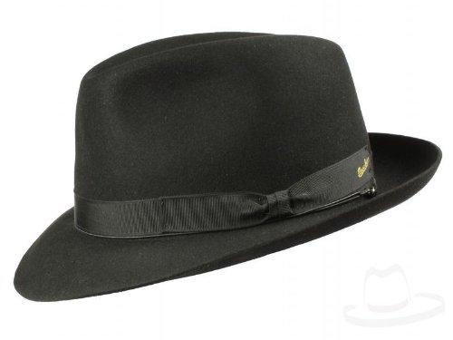 Borsalino Art. 114901 - Sombrero Fedora para hombre - negro  Amazon.es   Ropa y accesorios 2dbd80c65b0
