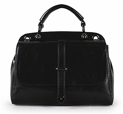 Xinmaoyuan Mujer bolsos de cuero Bolsos de señora Casual hombro paquete transversal oblicua Negro