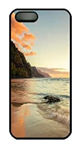 beach background Custom iPhone 5s/5 Case Cover Polycarbonate Black New Year gift