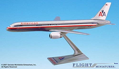 Flight Miniatures American Airlines 1970 Livery Boeing 757-200 1:200 Scale REG#N617AM Display Model w/Stand