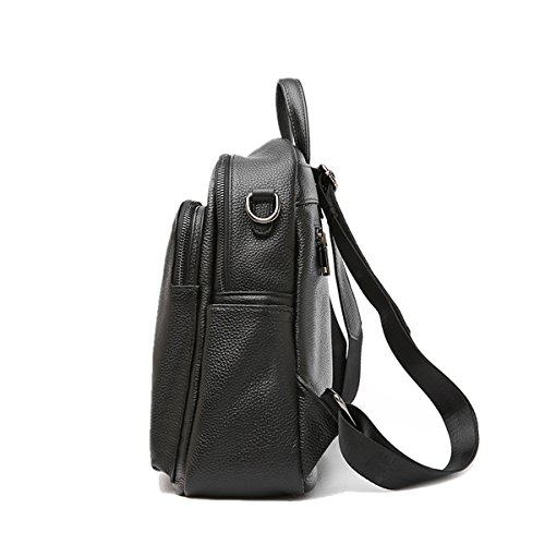 Dissa Travel Backpacks Outdoor School Soft College Bag Women black Leather Q0979 YxrwqYBU