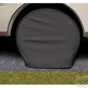 Adco 3977 Black Single Axle Ultra Tyre Gard Tire Wheel Cover 40-42'' set of 2 by ADCO