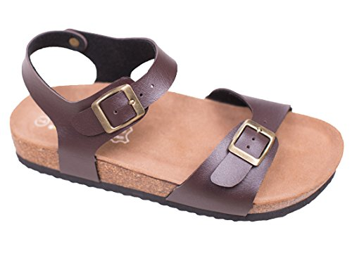 Pictures of Women's Flat Cork Sandals with Adjustable 1