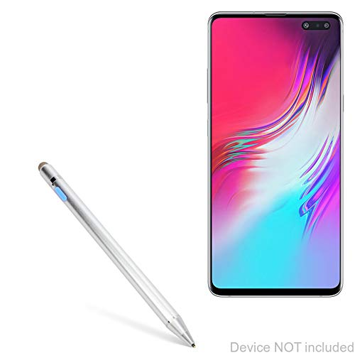 Samsung Galaxy S10 5G Stylus Pen, BoxWave [AccuPoint Active Stylus] Electronic Stylus with Ultra Fine Tip for Samsung Galaxy S10 5G - Metallic Silver