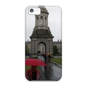 Tpu Case Cover For Iphone 5c Strong Protect Case - Bell Tower Design