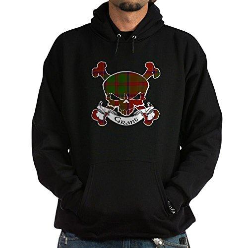CafePress Grant Tartan Skull - Pullover Hoodie, Classic & Comfortable Hooded ()