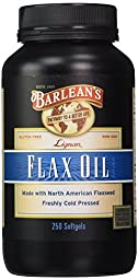 Barlean\'s Organic Oils Lignan Flax Oil - Softgels - 250 ct. (Pack of 4)