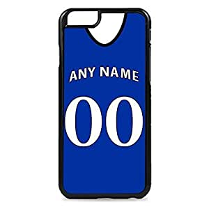Case Fun Case Fun Personalised Everton Football Shirt, Any Name, Any Number Snap-on Hard Back Case Cover for Apple iPhone 6 4.7 inch