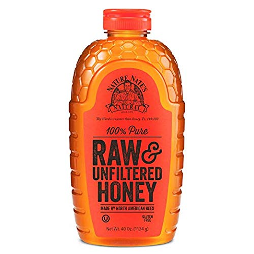 Nature Nate's 100% Pure Raw & Unfiltered Honey 48 oz (2 Packs)