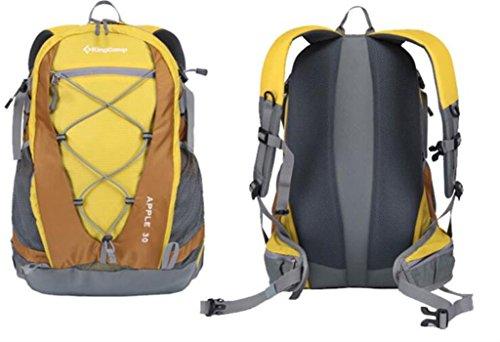 30L Professionelle Berg Tasche wasserdicht Ripstop mit Vordach Männer und Frauen Camping Rucksack wandern ( farbe : Gelb , größe : 30L )
