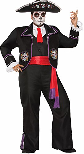 [Forum Mariachi Day of the Dead Man XL] (Dia De Los Muertos Mariachi Costume)