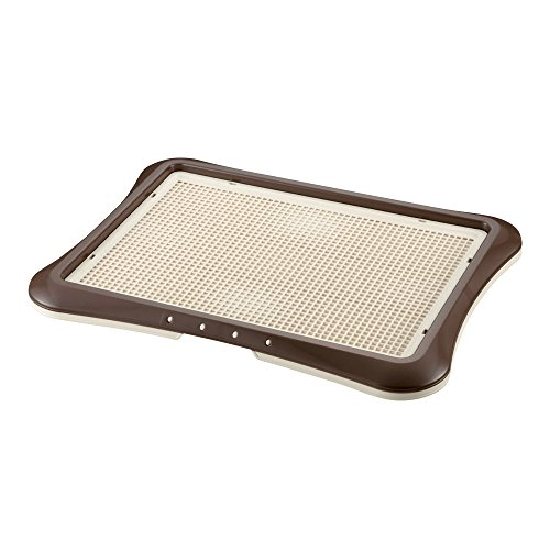 Richell Paw Trax Mesh Training Tray, Brown (Dog Pee Pad Holder)