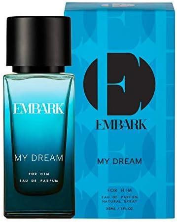 EMBARK My Dream for Him, Men's Perfume, 30ml Woody, Marine Long Lasting Smell Travel Size Bottle