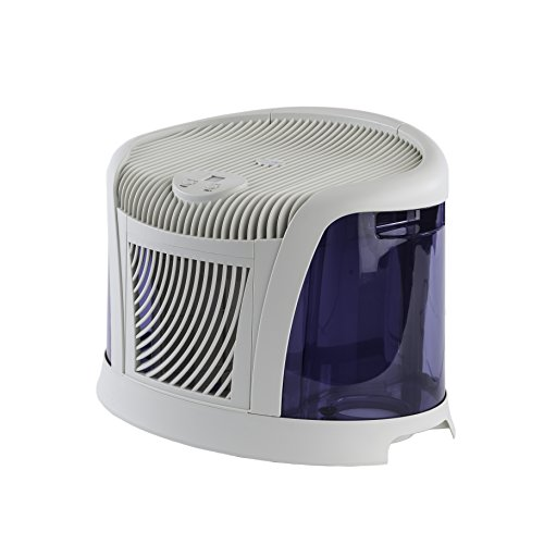 AirCare 3D6 100 Mini-Console-Style Evaporative Humidifier, White and Midnight Blue by AirCare (Image #4)