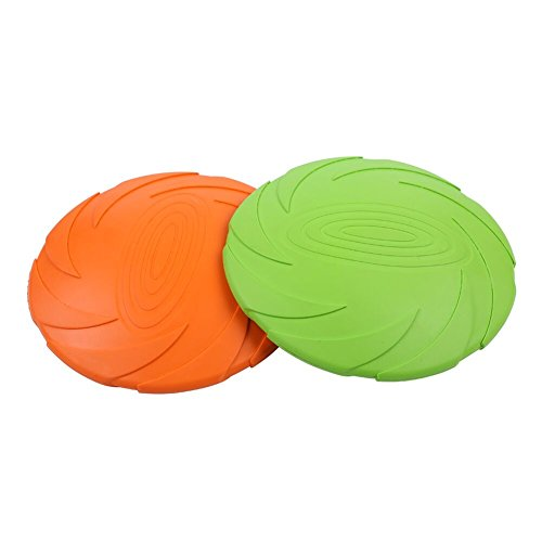 Isoly Dog Flying Disc Soft Toy Ultimate Frisbee Disc Floating Water Dog Toy
