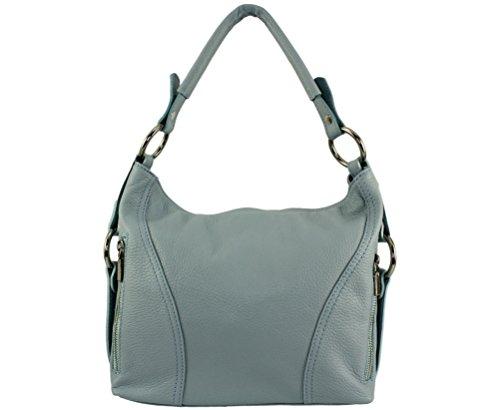 cuir vachette nany cuir Bleu sac main sac Nany nany a sac femme jours cuir main Sac Plusieurs sa les Sac à Coloris Ciel Italie nany tous nany qfHz8w