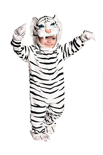 Underwraps Baby's Tiger Costume Jumpsuit, White, Small (6-12 Months)]()