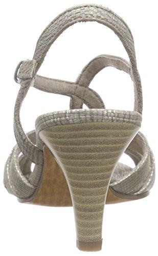 Marco Tozzi 28302 - sandalias abiertas de material sintético mujer Beige - Beige (TAUPE STRUCT. 427)