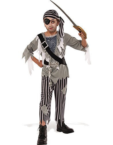 (Rubie's Costume Child's Ghostly Boy Pirate Costume, Medium,)
