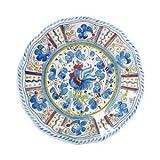 Le Cadeaux Rooster Blue Salad Plate - 9' set/4