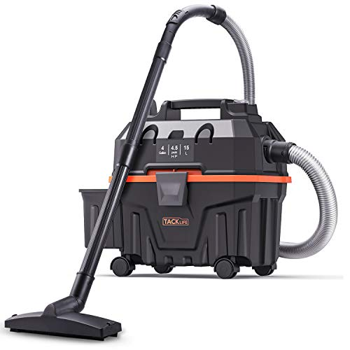TACKLIFE Wet Dry Vacuum, 15L Wet Dry Cleaner Bagless, 1200W, Strong Suction, No Carpet Brush, Suitable for Home and Car, PVC01B