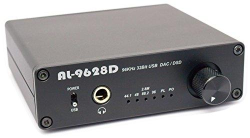 Amulech Hi-Res sound source corresponding PCM 96KHz / 32Bit // DSD 2.82MHz (88.2KHz / 32Bit) USB-DAC + headphone amplifier AL-9628D by Amulech
