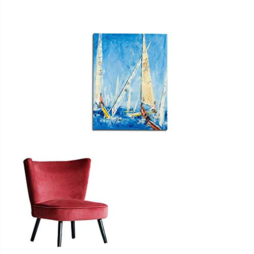 (longbuyer Wall Sticker Decals Sailing Dinghys Racing Mural 20