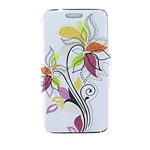 TOPQQ Kinston Colorful Leaves Pattern PU Leather Full Body Case for Samsung S5 I9600