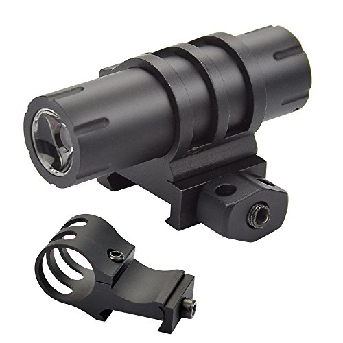 Twod Compact Flashlight 100 Lumens Cree LED with Picatinny Rail Mount,Remote Pressure Switch & Extra Offset Mount