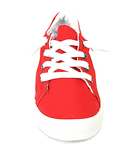 Shoes Comfort Sneakers Link Casual Lace Women's up Flat Red Street Forever 01 qT0zw5W