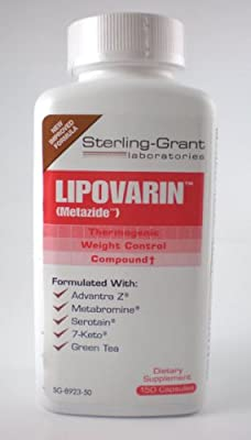 Lipovarin 150 Caps Thermogenic Weight Loss Diet Pill