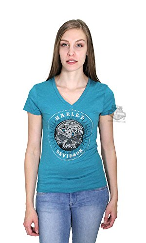 Harley Davidson Womens Willie Calavera Circle